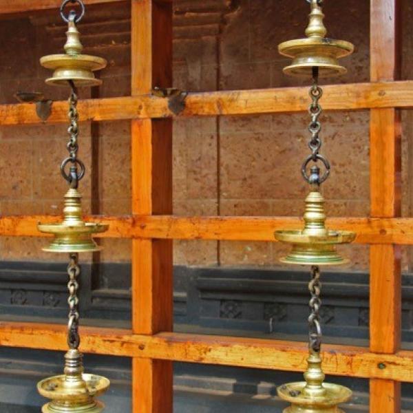 Oil lamps at Hanuman temple