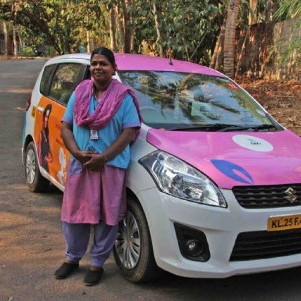 Female taxi driver