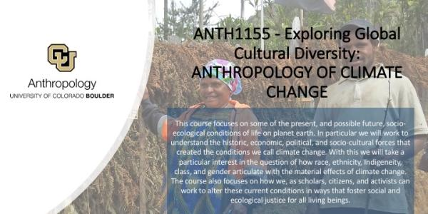 ANTH 1155 Exploring Global Cultural Diversity: ANTHROPOLOGY OF CLIMATE CHANGE Promo Slide