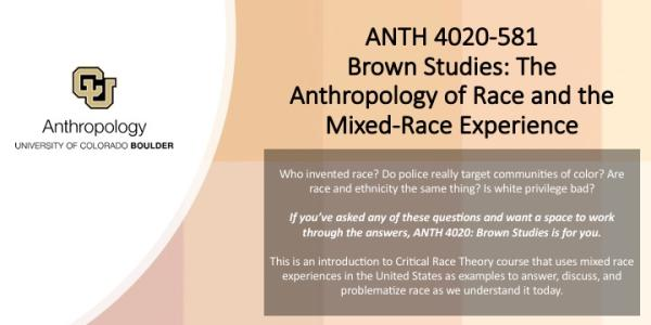 ANTH 4020 Promo Slide with shades of Brown