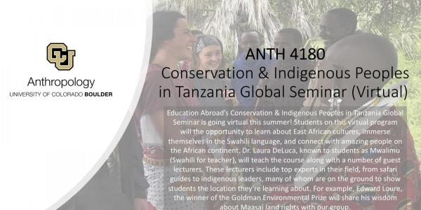 ANTH 4180 promo slide with students talking to African locals