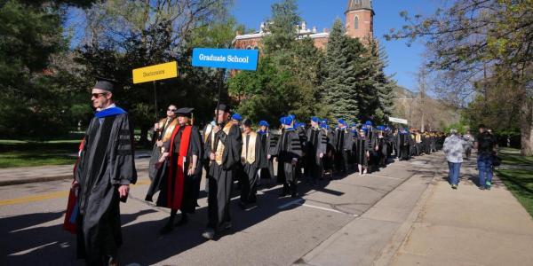 CU Graduate School Commencement Walk