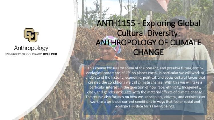 Exploring Global Cultural Diversity: ANTHROPOLOGY OF CLIMATE CHANGE Promo Slide