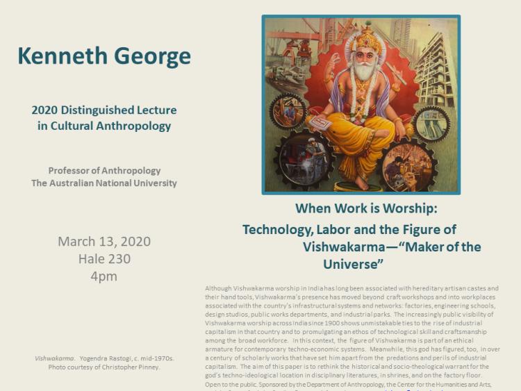 Mar 13 2020 Distinguished Cultural Lecture