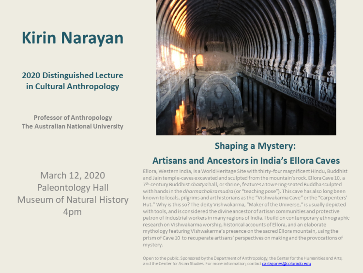 Mar 12 2020 Distinguished Cultural Lecture