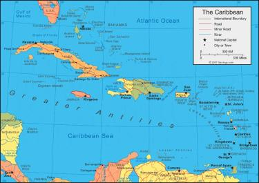 ANTH 1115 Caribbean map