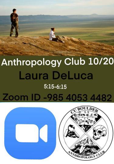 ANTH Club Laura DeLuca Speaker Flyer