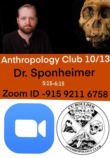 ANTH Club Matt Sopnheimer Speaker Flyer