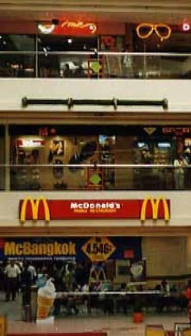 McDonald's promoting Thai food in Indonesian shopping mall (Photo/Carla Jones)