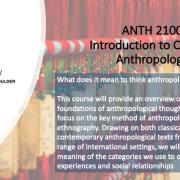 ANTH 2100 Intro to Cultural Promo Slide