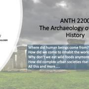 ANTH 2200 Promo Slide featuring Stonehedge