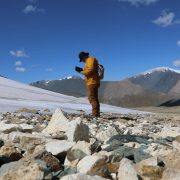 Archaeologists document artifacts emerging from the melting ice in western Mongolia.