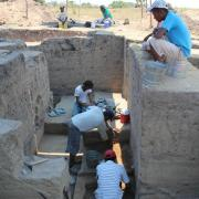 block excavation on he acropolis at the ancient city of rio viejo oaxaca lowlands