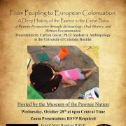 Museum of the Pawnee Nation Announcement Flyer