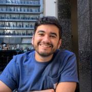 Gregorio Ortiz sitting in a restaurant
