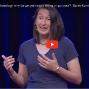 Sarah Kurnick Presenting her TedxMilehigh Talk
