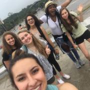 Kaifa with Students in Havana Cuba