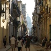 Havana Cuba Street view with State Building