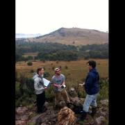 Students doing fieldwork in the Cradle Nature Reserve, South Africa.
