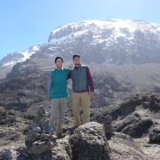 2 Students Near a Mountain in Tanzania 2018