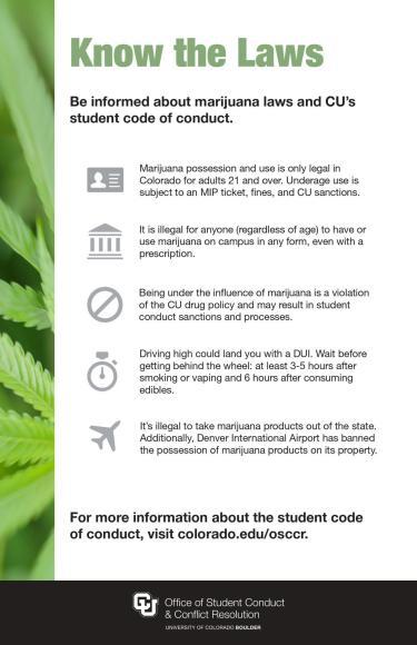 Image of back of Marijuana Impacts Card