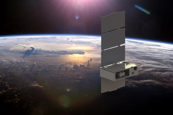 A cubesat orbits the Earth