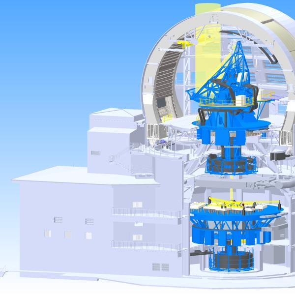 solar telescope under construction