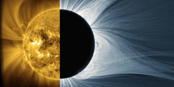 Solar plasma in different wavelengths