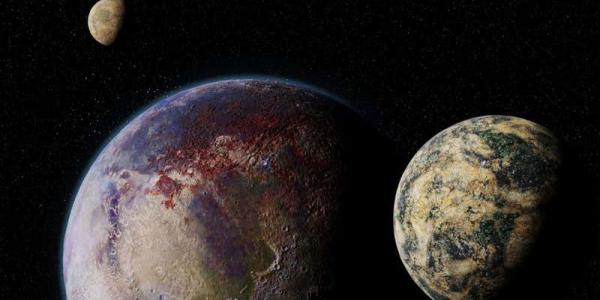Artist's concept of a moon around an exoplanet