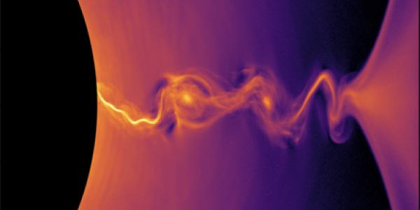 Plasma arcing through a gas