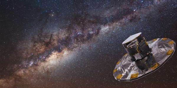 Gaia with the Milky Way in the background