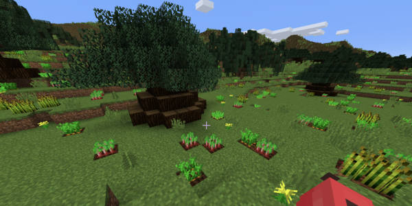 Landscape in the game Minecraft