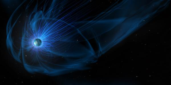 Artist's concept of the Earth's magnetosphere
