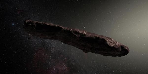 artist's rendition of object ʻOumuamua
