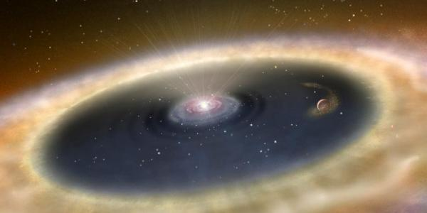 Artist's concept of a planet-forming disk