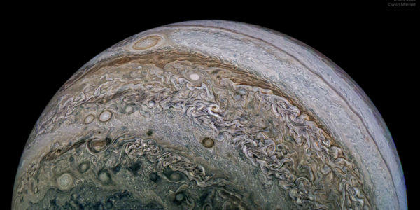 Image Credit: NASA, Juno, SwRI, MSSS; Composition: David Marriott (from NASA Astronomy Picture of the Day)