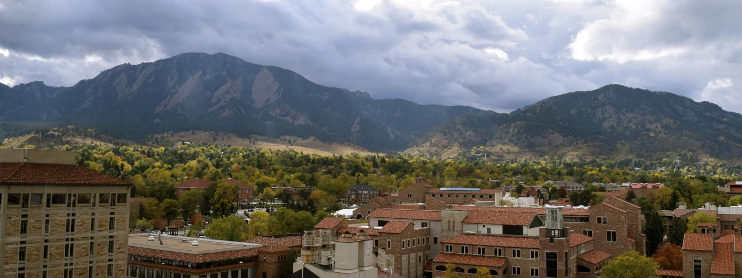 Flatirons from Duane tower