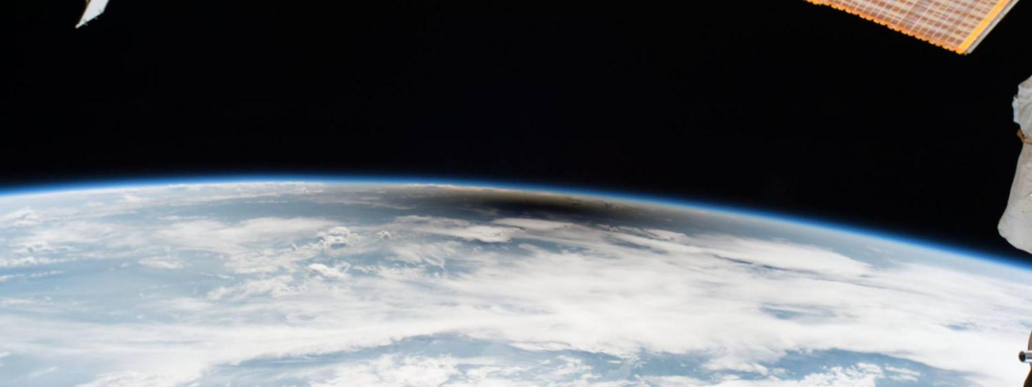 Eclipse 2017 as seen from the ISS
