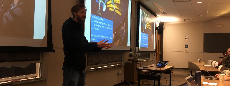 Nick Conant describes Fiske Planetarium