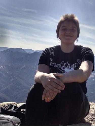 Jhett Bordwell during a hike at Sobo Peak