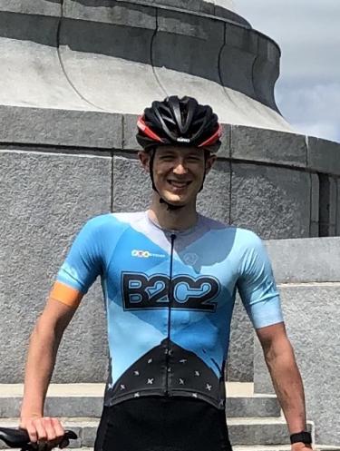 Cole Tamburri on his bike