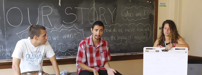 the Aquetza Story classroom lecture