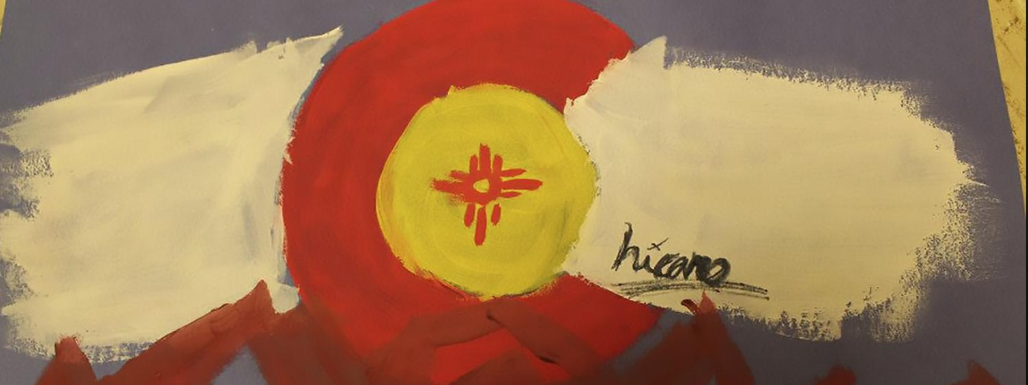 Aquetza's Chicano Colorado flag