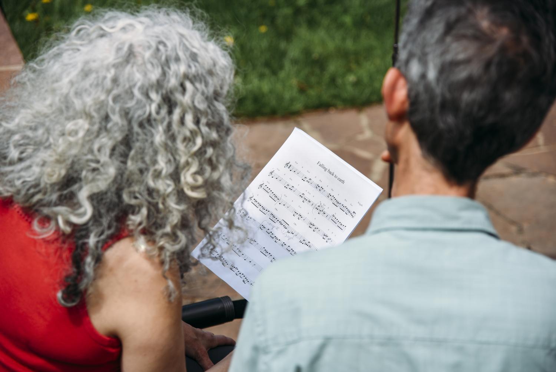 Alicia Svigals and Yonatan Malin at Chautauqua reading music