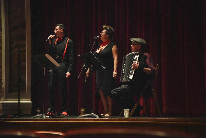 David Shneer and Jewlia Eisenberg performing on stage