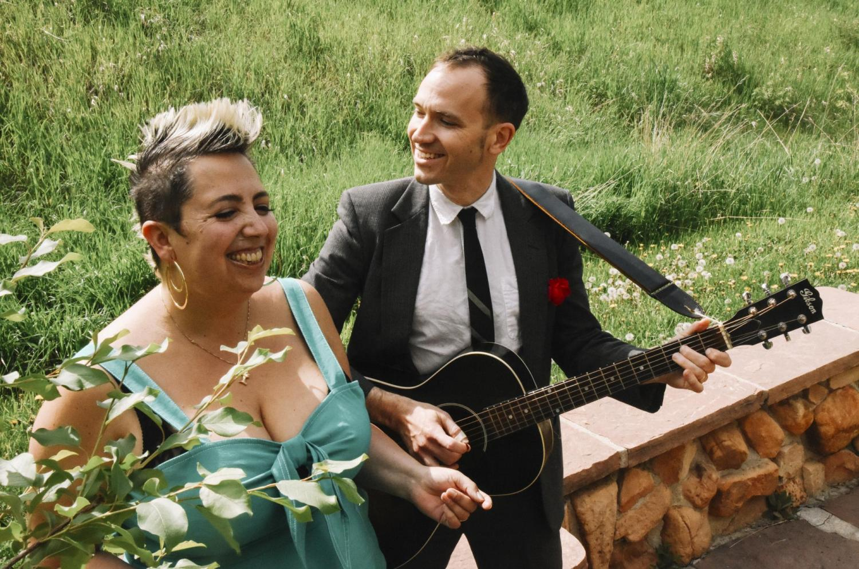 Jeremiah Lockwood and Jewlia Eisenberg rehearsing at Chautauqua