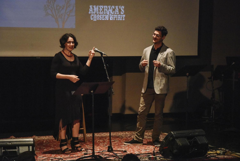Janice Fernheimer and JT Waldman on the stage