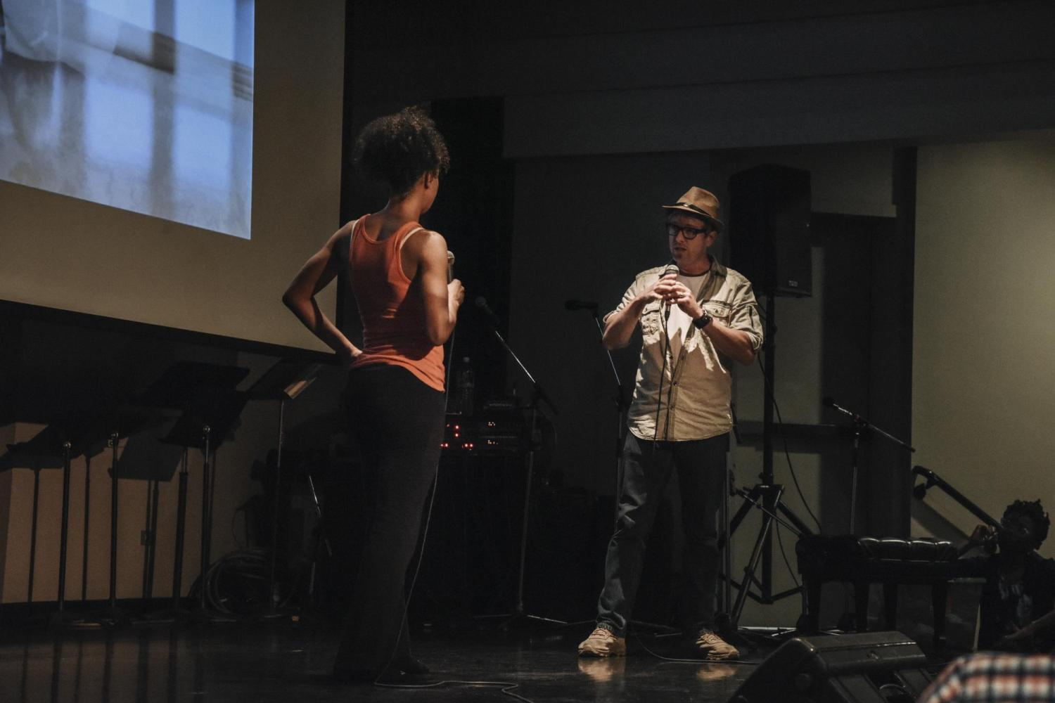 Gesel Mason and Daniel Beahm on stage