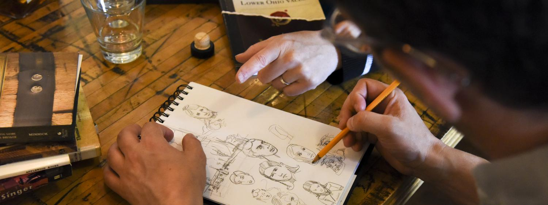 JT Waldman sketching