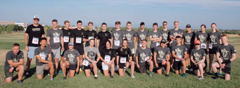 Army ROTC 5K participants. Photo courtesy of Cadet Arianna Decker.